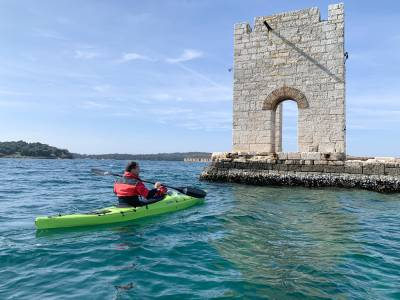 KAYAKING THE OLD PULA HARBOUR